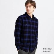 UNIQLO 优衣库 421201 男装 法兰绒格子衬衫(长袖)99元包邮