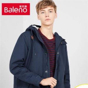 Baleno班尼路 88837570 男士加绒加厚工装棉服