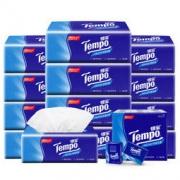 得宝 Tempo /纸巾软抽纸 无味4层90抽12包餐巾纸面巾纸德宝婴儿可用