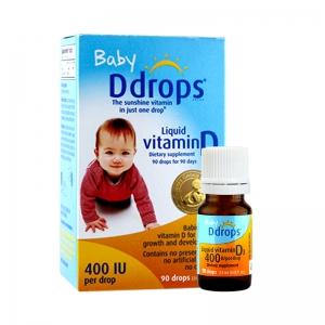 Ddrops 婴儿维生素D3滴剂 400IU 90滴 79元包税包邮(前2小时)