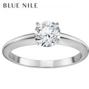 BlueNile0.3克拉14k白金小巧单石订婚戒指6300元包邮(需用券)