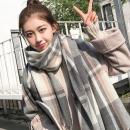 ¥8.8 茉柔 格子围巾女秋冬季两用披肩¥9
