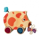 B.toys 比乐 BX1393Z 木制小猪拖拉玩具 *2件99元(合49.5元/件)