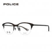 POLICE VPL900K 半框板材加钛光学镜框+依视路 钻晶A4 1.56镜片 499元包邮(需用券)