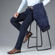 浱淇 男士加绒加厚款 修身直筒牛仔裤79元包邮