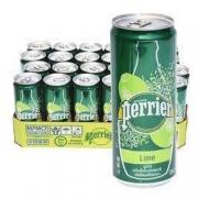 Perrier巴黎水 天然气泡矿泉水(柠檬味)330ml*24罐89元含税包邮