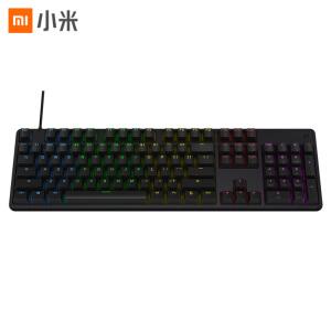 小米 机械手感游戏键盘 RGB炫彩背光|铝合金上盖|定制游戏轴体