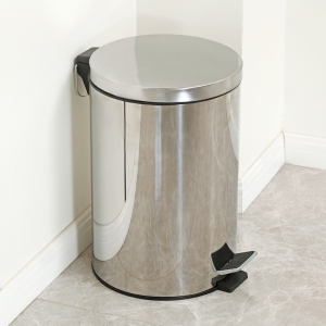 韩姬 双层带盖不锈钢垃圾桶 8L 49元包邮(需用券)