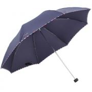 Paradise 天堂伞 包边三折晴雨伞 深藏青 19.8元包邮