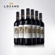 LOZANO 洛萨诺 5分之2干红葡萄酒 750ml*6瓶 *2件 299元包邮(双重优惠)