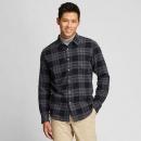 UNIQLO 优衣库 421206 男装 法兰绒格子衬衫(长袖)99元包邮