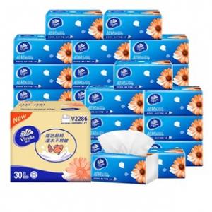 天猫超市 维达超韧软抽30包整箱装 券后¥54.9