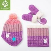 ¥29 Kocotree 儿童加绒围脖针织帽子手套三件套¥29