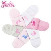 Barbie 芭比 女童厚款短袜 5双装