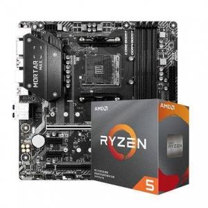 AMD R5 3600X CPU处理器+ MSI 微星 B450M MORTAR MAX 迫击炮 主板 CPU套装