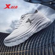 特步运动鞋男鞋跑步鞋2019冬季新款皮面跑鞋透气网面男士休闲鞋子76.33元