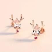 瑟薇儿 s925银圣诞款一鹿有你耳钉 (配银耳塞) 49元包邮(需用券)