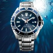 Citizen/西铁城 男士 指针 太阳能手表 不锈钢表带 BN0191-80L