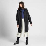 UNIQLO 优衣库 420515 女士羊毛混纺连帽针织大衣99元