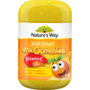 88VIP:Nat ure's Way 佳思敏 Kids Smart儿童维生素C+锌软糖 60粒 *4件 164.73元包邮(需用券)¥84