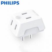 PHILIPS 飞利浦 1301P 迷你扩展插座 无线+3位9.8元包邮(需用券)