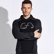 商场同款:德国GymAesthetics 连帽套头修身跑步运动卫衣