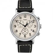 中亚Prime会员: Timex 天美时 TWG012800QM Weekender Chrono 中性皮革表带手表