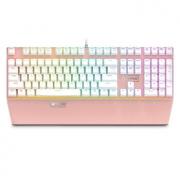 京东超市、限时达:玫瑰金Rapoo/雷柏 V720 104键 RGB机械键盘券后149.5元包邮