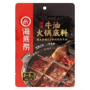 海底捞 醇香牛油牛肉 火锅底料 150克