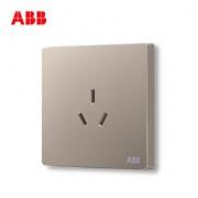 ABB开关插座面板 16A三孔空调插座 轩致系列 金色 AF206-PG *5件