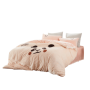 水星家纺 暖萌兔 双面加厚法兰绒四件套 1.2m 189.05元¥199