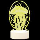 Menelaus 平面3D小夜灯 三色调光 插电款  券后9.9元¥10