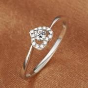 MyMiss非常爱礼925银镀铂金心形戒指