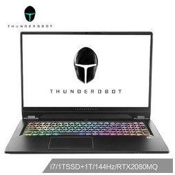 ThundeRobot 雷神 五代新911 GT2 17.3英寸笔记本电脑(i7-9750H、16G、1TSSD+1TB、RTX2080MQ、144Hz)