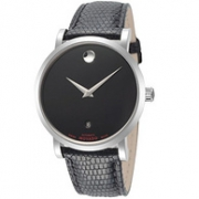 MOVADO 摩凡陀 Red Label 606114 男士 38mm Black Dial Leather 手表539.1美元约¥3678(京东9040)