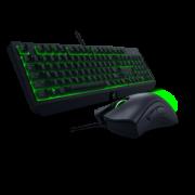 ¥499 Razer雷蛇黑寡妇蝰蛇游戏鼠标绿背光机械键盘套装¥499