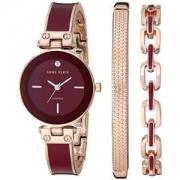 ANNE KLEIN 安妮·克莱因 女式手表套装 酒红色