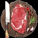 绝世 澳洲进口原切牛排 10片 共 1300g 148元过年价 送煎锅+刀叉¥148