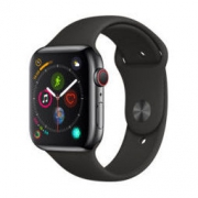 Apple 苹果 Apple Watch Series 4苹果智能手表(深空灰铝金属、GPS 蜂窝、44mm、黑色运动型表带)