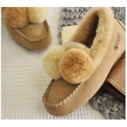DK DK211 女士加绒保暖内增高豆豆鞋