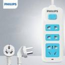 Philips飞利浦 SPS2232A 家用3插位高温阻燃插排 1.8米19.9元包邮(需用券)