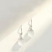 alivinee 阿莉维妮 s925 银猫眼石耳环
