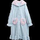 GAINREEL 歌瑞尔 HWH19041 女士法兰绒兔耳朵家居服 99元¥99