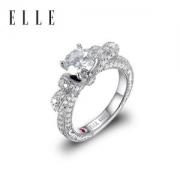 法国 ELLE 比钻石更闪 莫桑石戒指