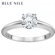 Blue Nile 0.3克拉14k 白金 小巧单石订婚戒指 5670元包邮(需用券)