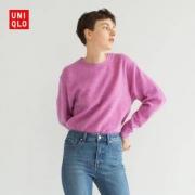 UNIQLO 优衣库 418679 女装羊仔毛圆领针织衫99元包邮
