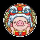 JANE WYATT 简·悦 中国风 锁边鼠标垫 圆形300*3mm 8.8元包邮¥9