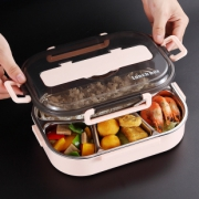 不锈钢分格保温饭盒便当盒