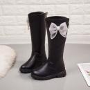 女中大童冬加绒长筒靴韩版时尚皮靴¥68