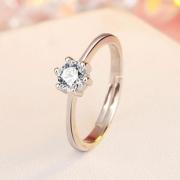 【仕艳】纯银情侣戒指简约男女对戒